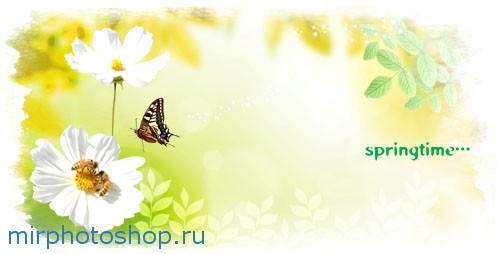 Скачать весенний шаблон для фотошопа