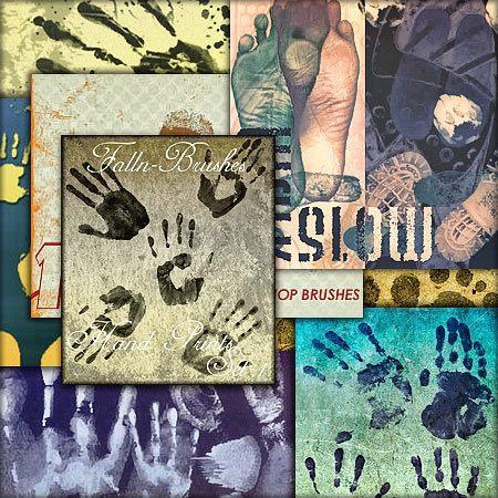 Кисти для фотошоп отпечатки пальцев рук и ног