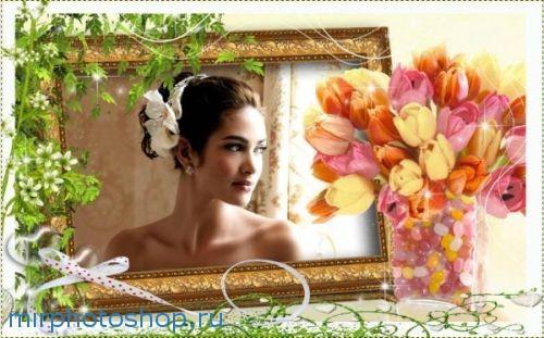 фотошоп рамка на свадьбу для невесты