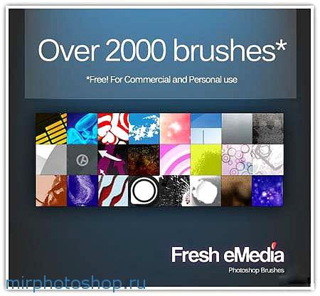 2000 кисточек для фотошопа