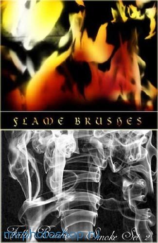 фотошоп кисти огонь и дым