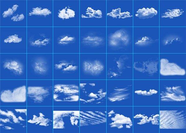 кисти для фотошопа облака