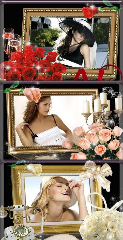 Стильные рамки для фотошоп
