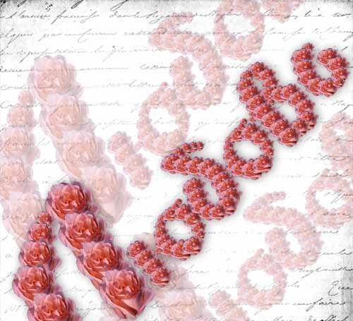 Текст из роз для фотошоп скачать бесплатно
