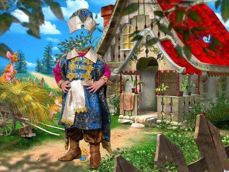 Шаблон для фотошоп маленький царевич