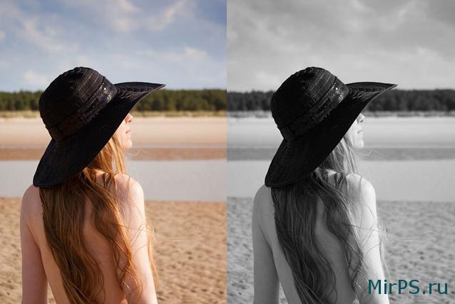 Как сделать фотографию черно-белой с помощью Photoshop?