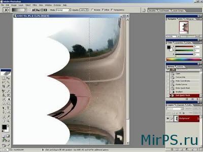 эффект наезда наложения фотографии